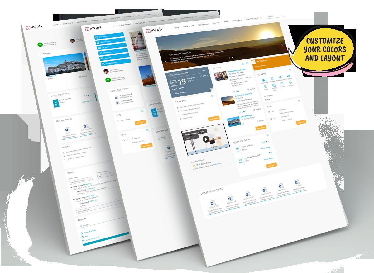 involv customizable intranet